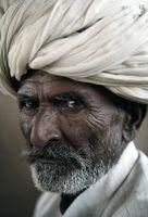 Indiai férfiportré