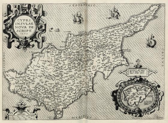 Országos Széchényi Könyvtár: Ciprus térképe a XVI. század második feléből