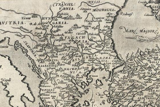 Országos Széchényi Könyvtár: Bulgária térképe a XVI. század második feléből