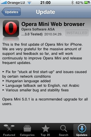 reventon: Opera Mini update