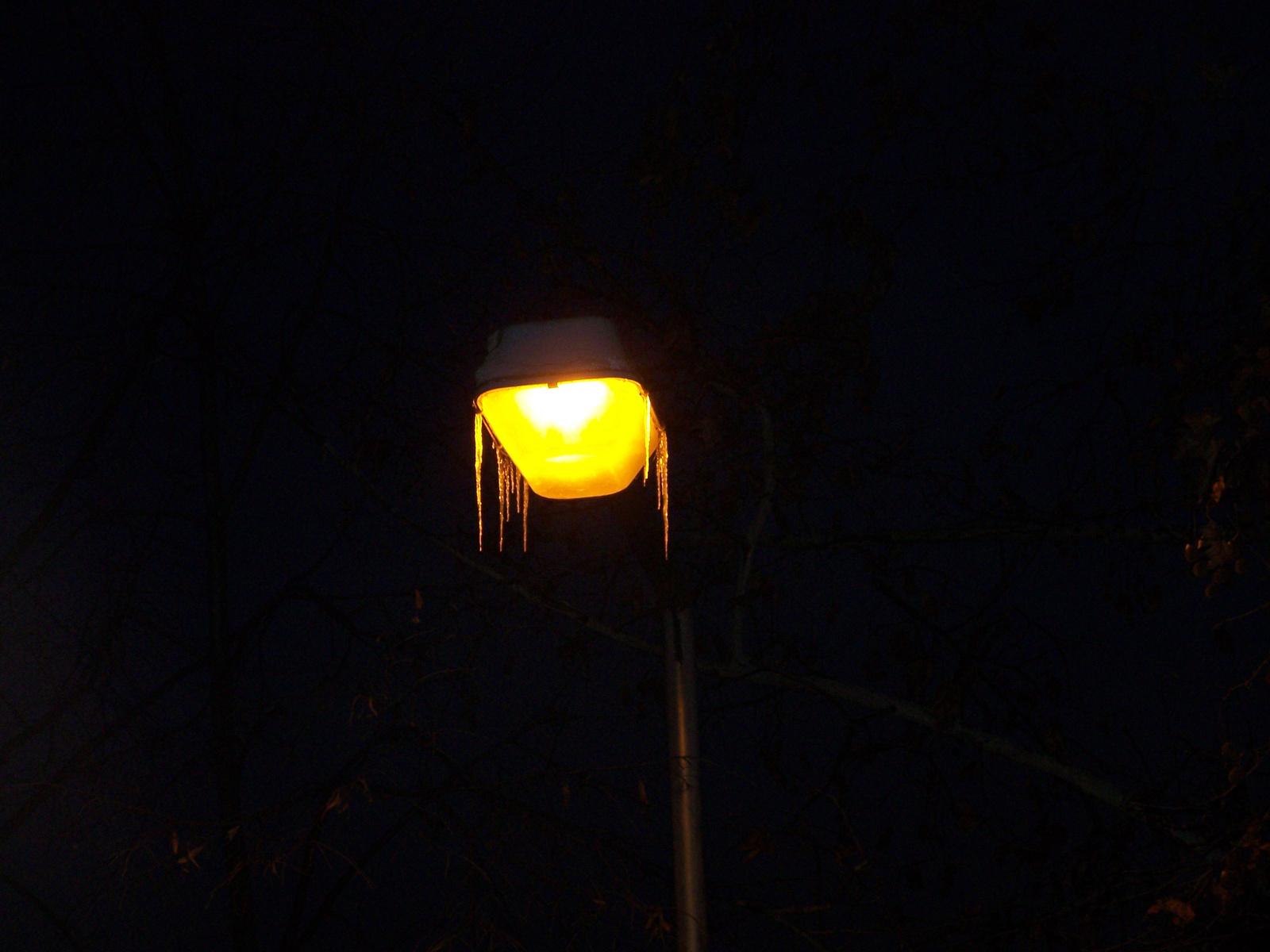 téli közvilágítás